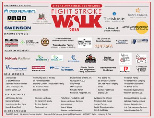 Thank you 2018 Fight Stroke Walk Sponsors!